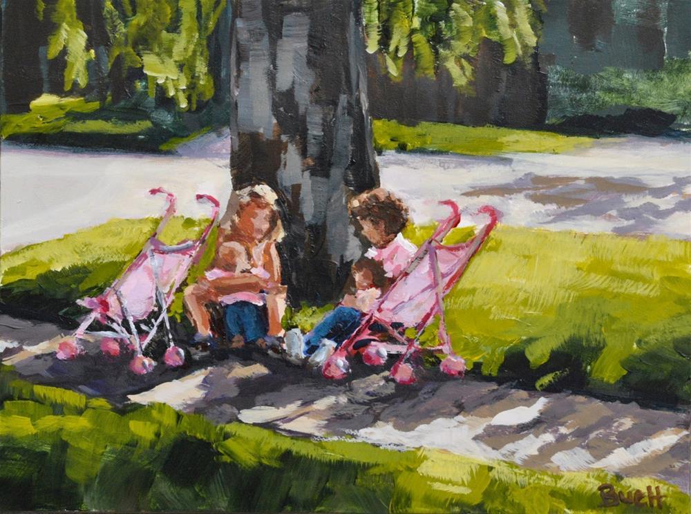 """""""Little Mommies"""" original fine art by Shari Buelt"""