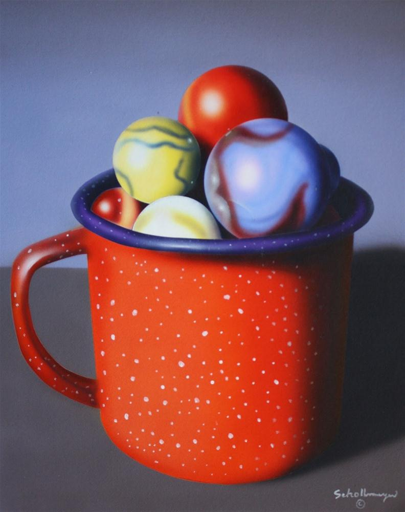 """""""Granite Cup and Marbles"""" original fine art by Fred Schollmeyer"""