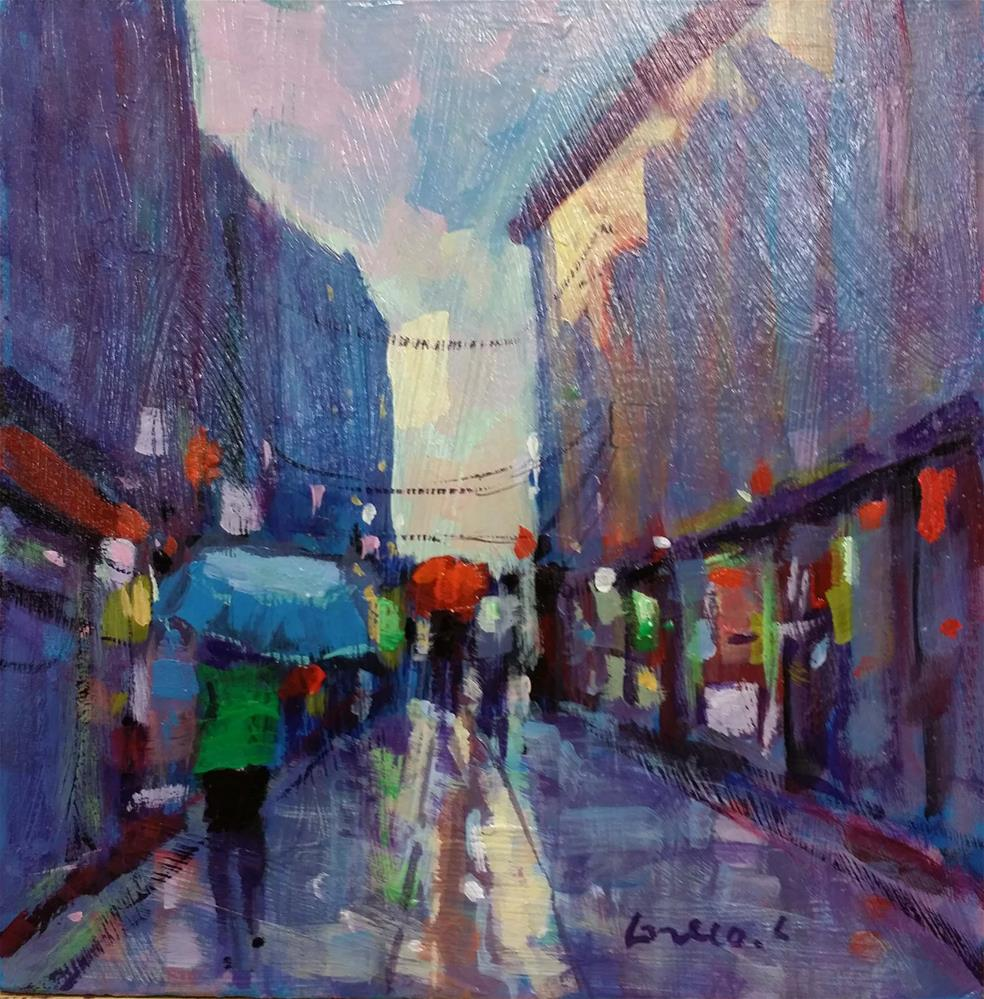 """rainy day"" original fine art by salvatore greco"