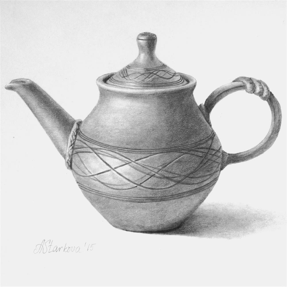 """Time for tea"" original fine art by Anna Starkova"