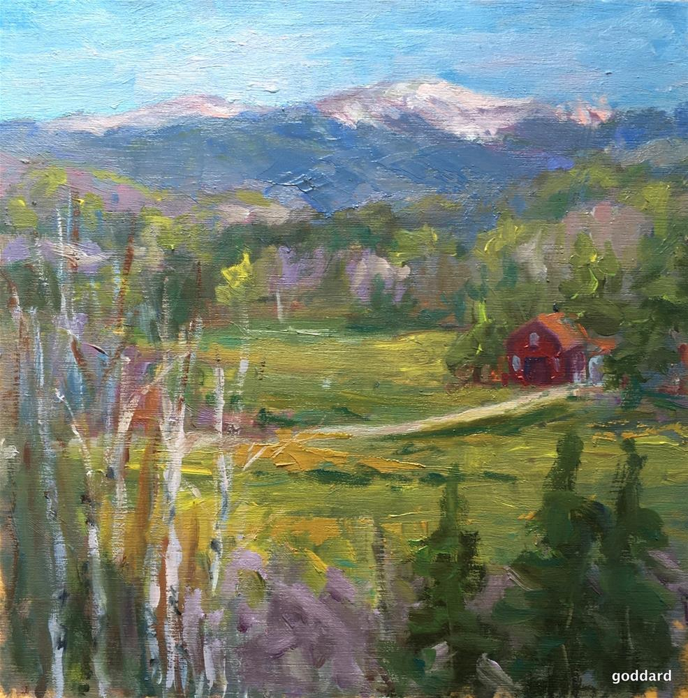 """View of Spring"" original fine art by Shari Goddard Shambaugh"