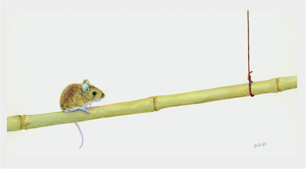 """Bamboo Dancer Study II"" original fine art by Susanne Billings"