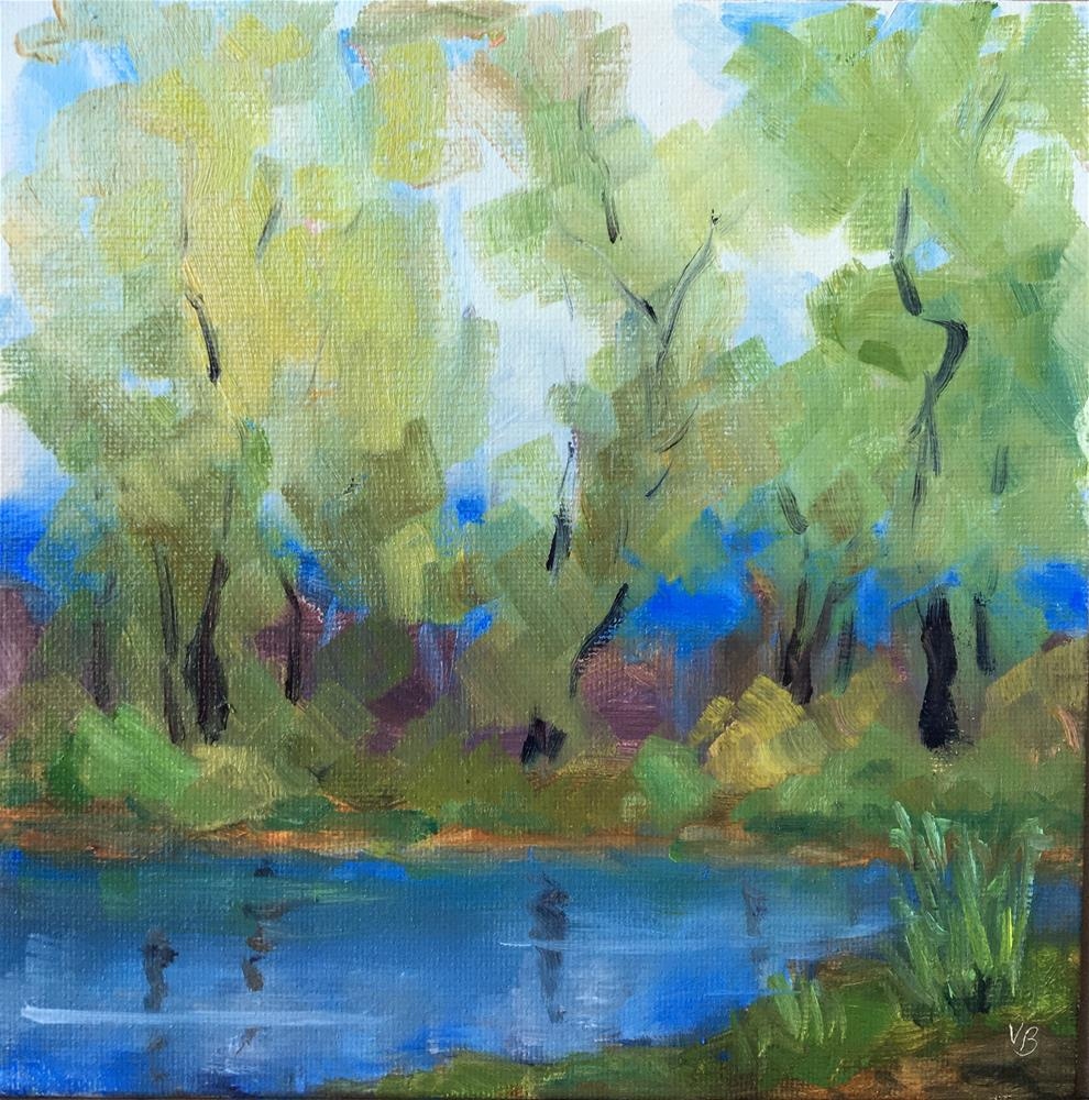 """Blue Coming Through"" original fine art by Victoria  Biedron"