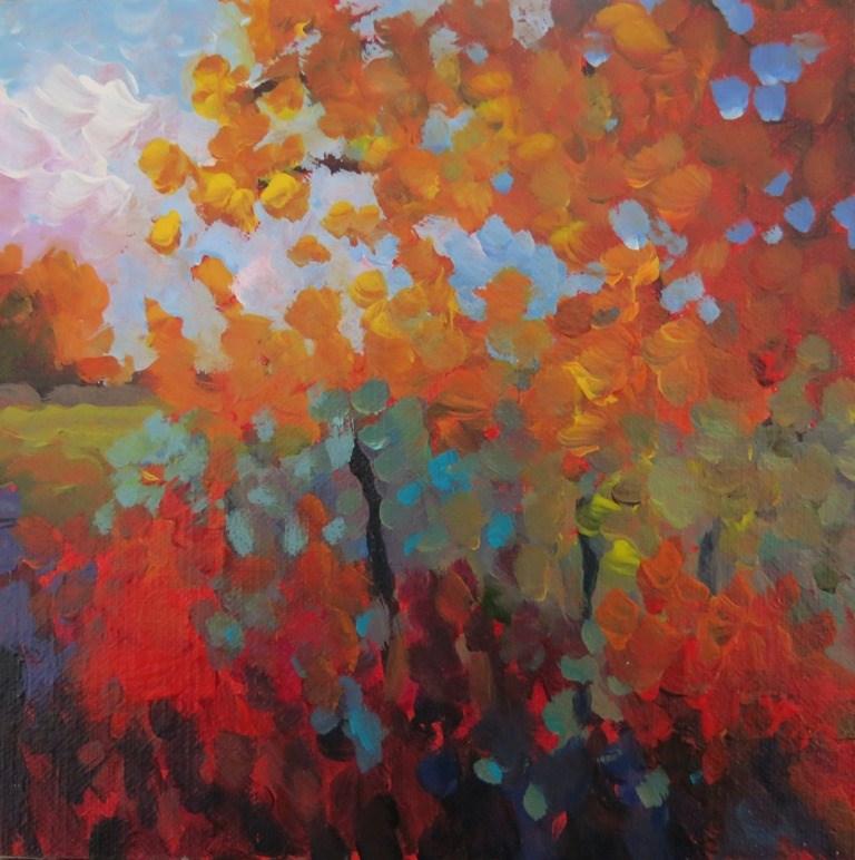 """TAOS REDS"" original fine art by Dee Sanchez"