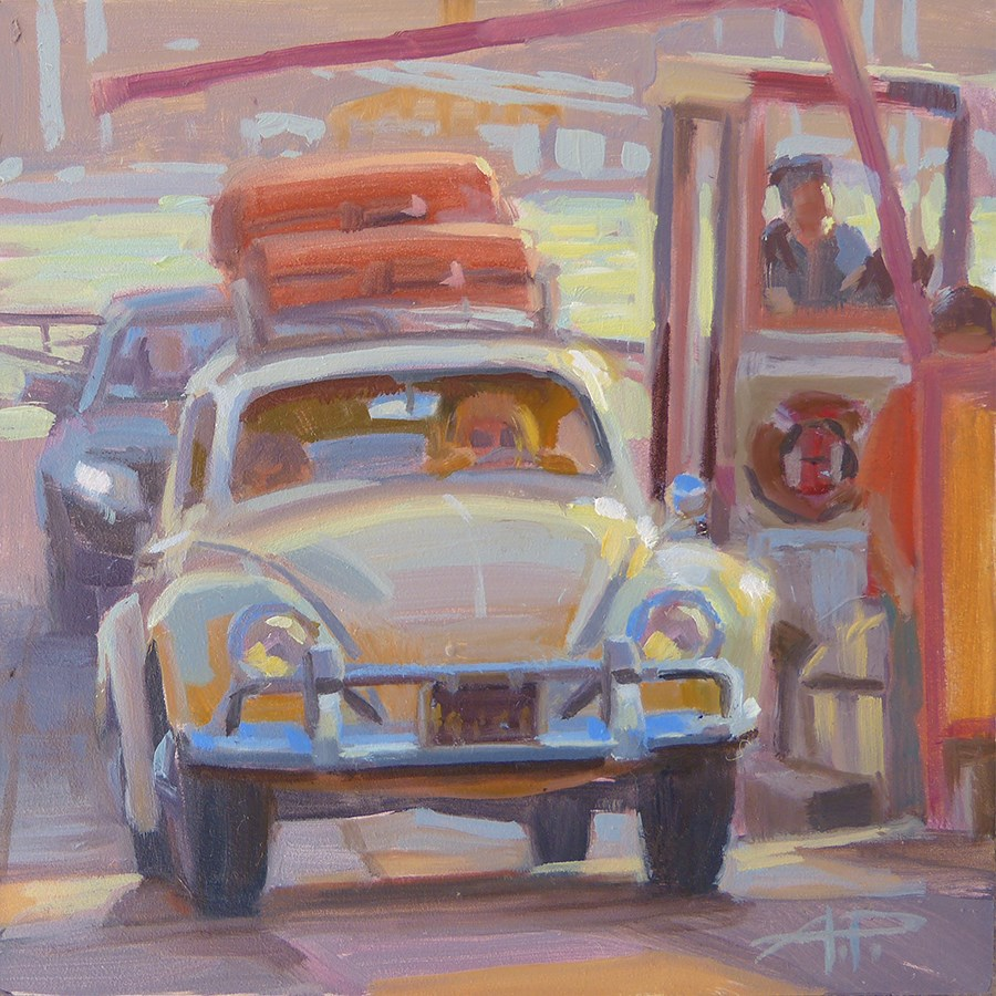 """""""30 in 30 - Cars and Dogs - Day 1"""" original fine art by Anette Power"""