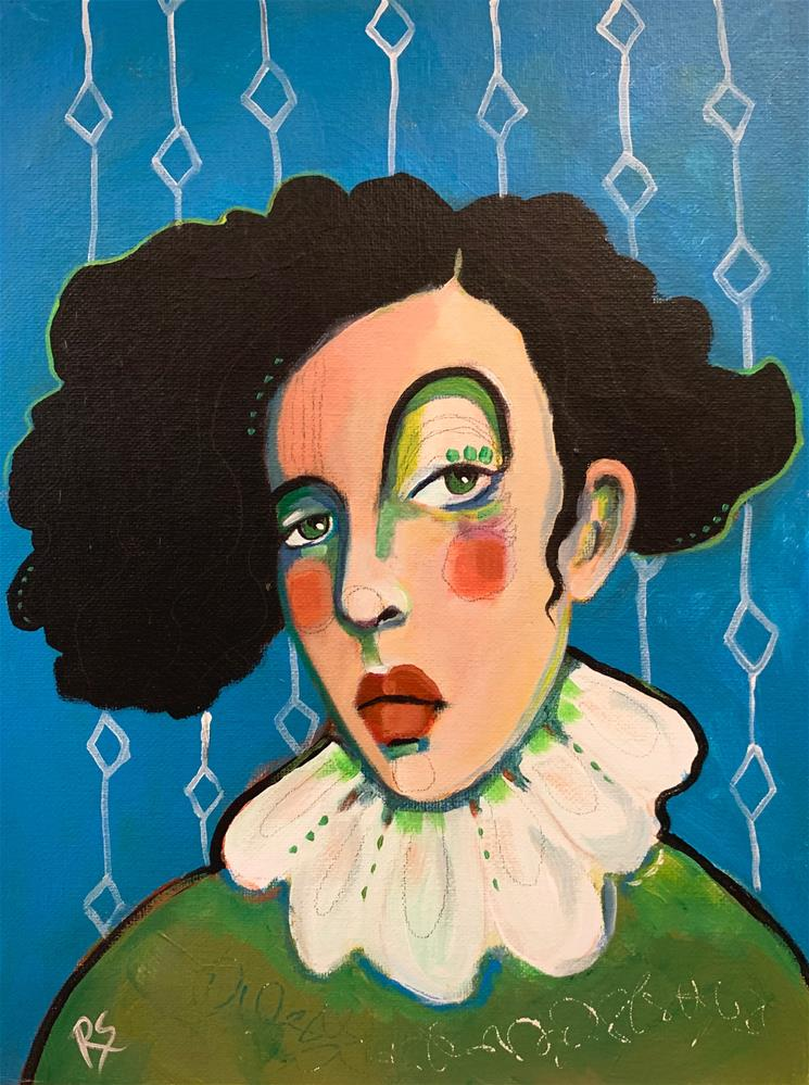 """#7 The Girl Who Loved the Circus"" original fine art by Roberta Schmidt ArtcyLucy"