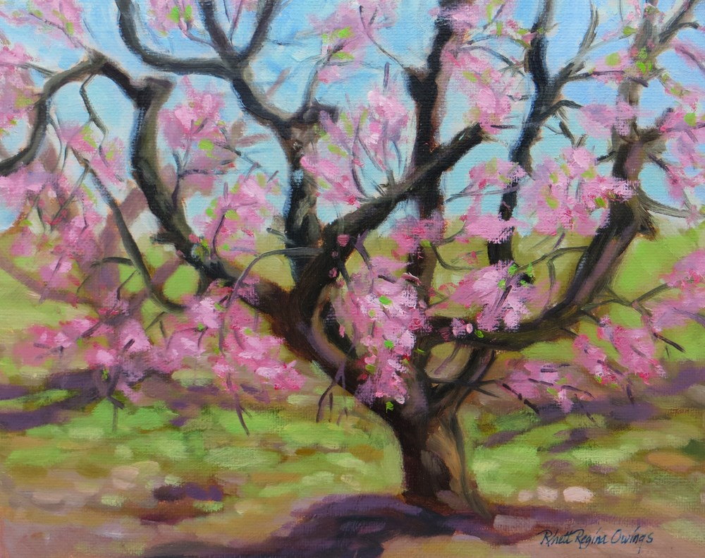 """The Peach Tree"" original fine art by Rhett Regina Owings"