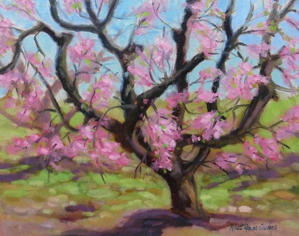"""The Peach Tree"" original fine art by Rhett Regina Owings"