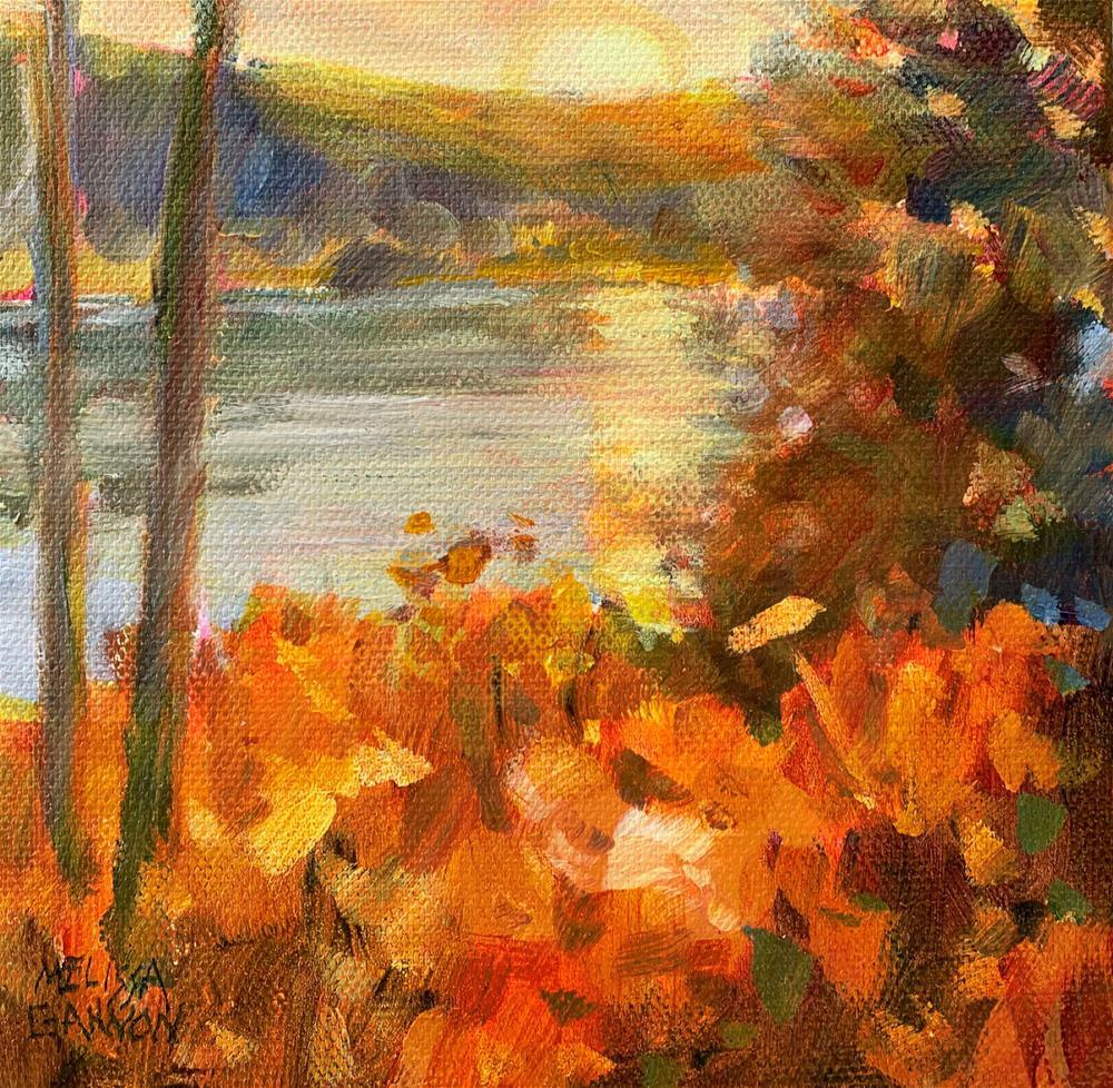 """Sunset Golds"" original fine art by Melissa Gannon"
