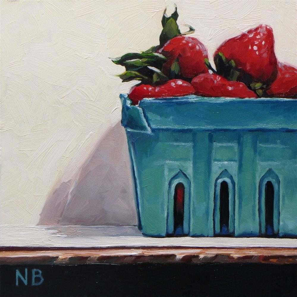 """Berry Box"" original fine art by Nora Bergman"