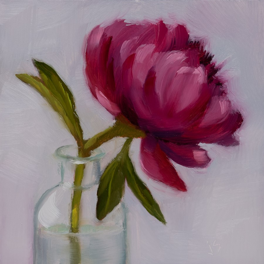 """Vibrant Peony"" original fine art by Johnna Schelling"