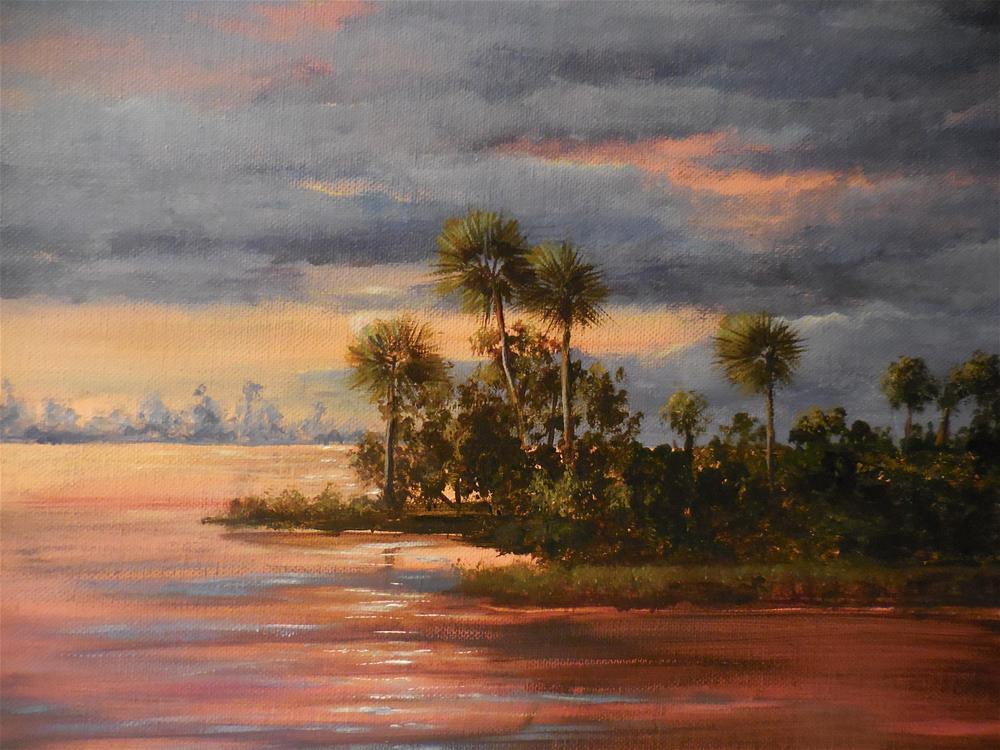 """Florida Sunset"" original fine art by Terri Nicholson"