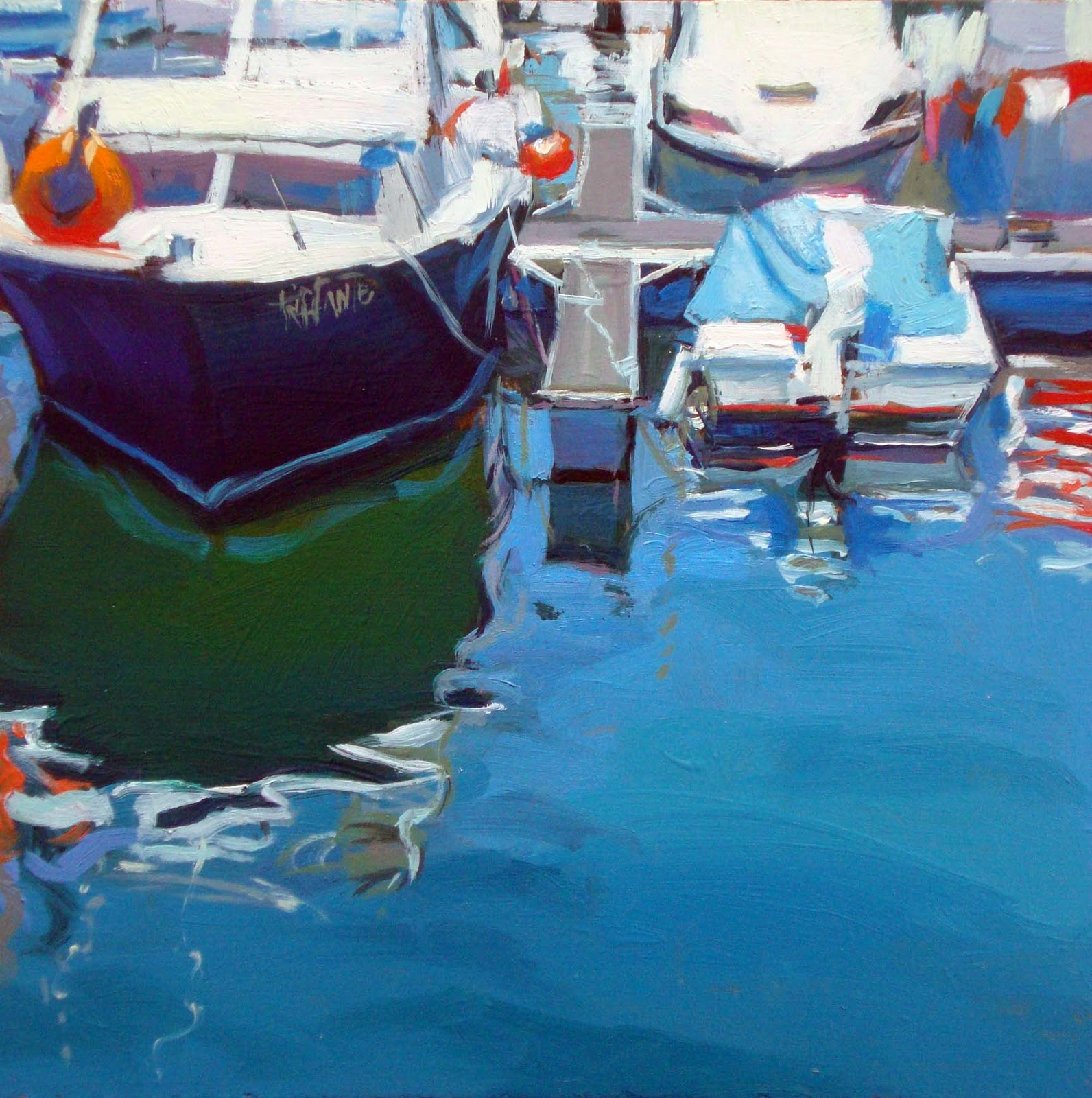 """Maritime reflections"" original fine art by Víctor Tristante"