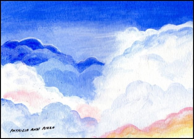 """Dream Clouds"" original fine art by Patricia Ann Rizzo"