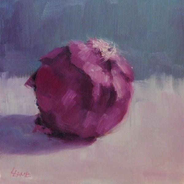 """Red Onion Study"" original fine art by Lori Lamb"