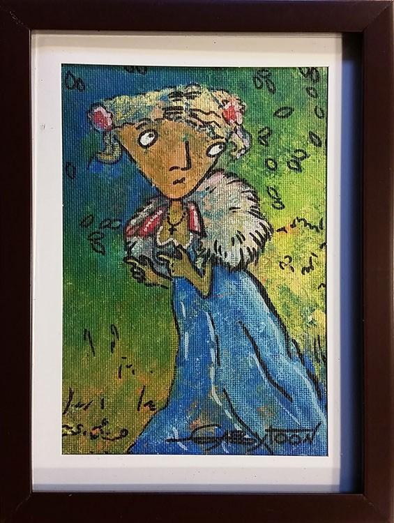 """I'll Wait You In The Garden"" original fine art by Gabriella DeLamater"