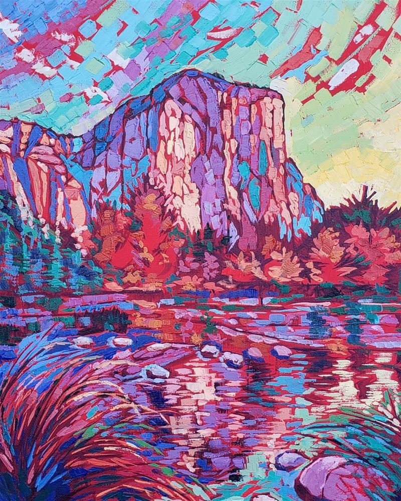 """Autumn in Yosemite - Fine Art Landscape "" original fine art by Bhavna Misra"