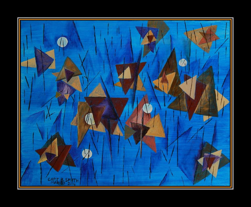 """Blue World"" original fine art by Captain B Smith"