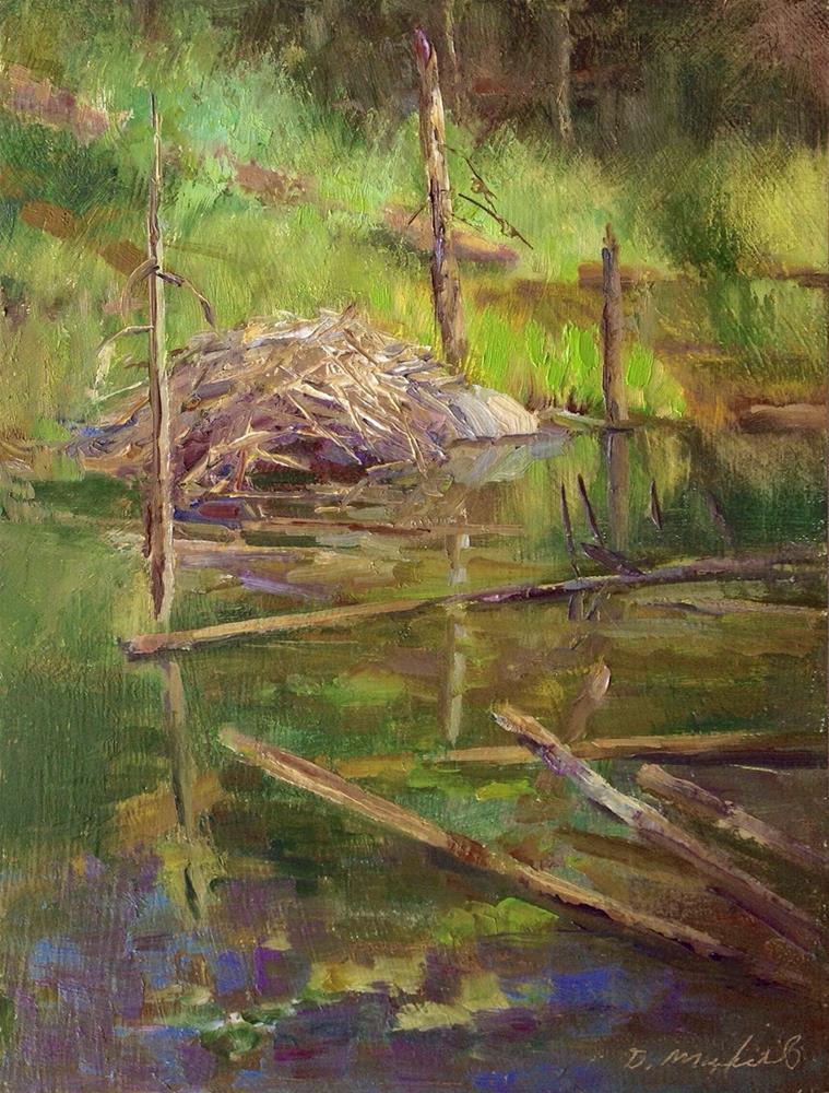"""Coquitlam River Wetlands"" original fine art by Denise Maxwell"