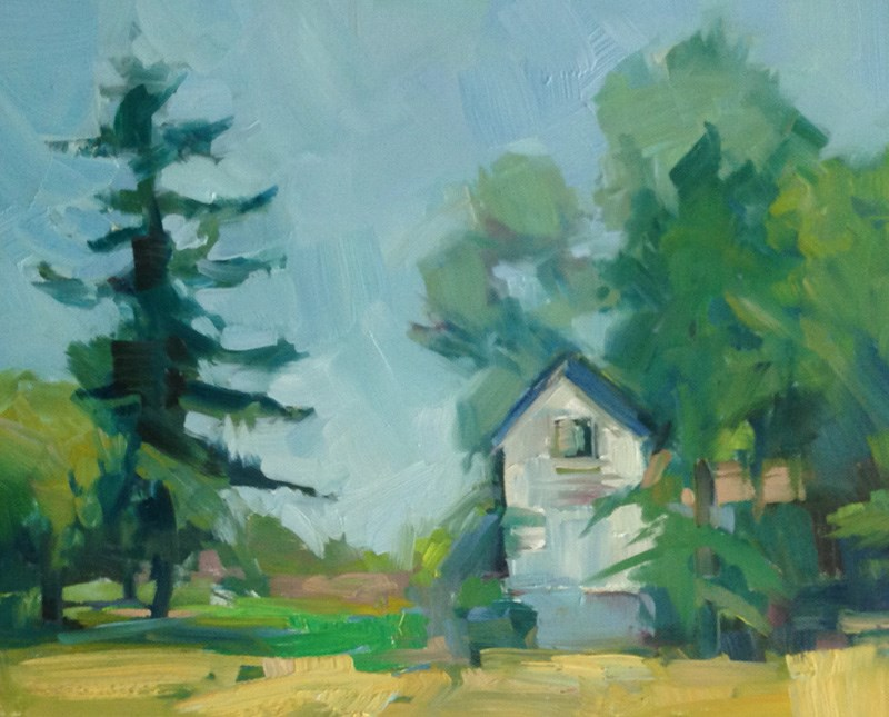"""""""The Sweet Old House"""" original fine art by Patti McNutt"""