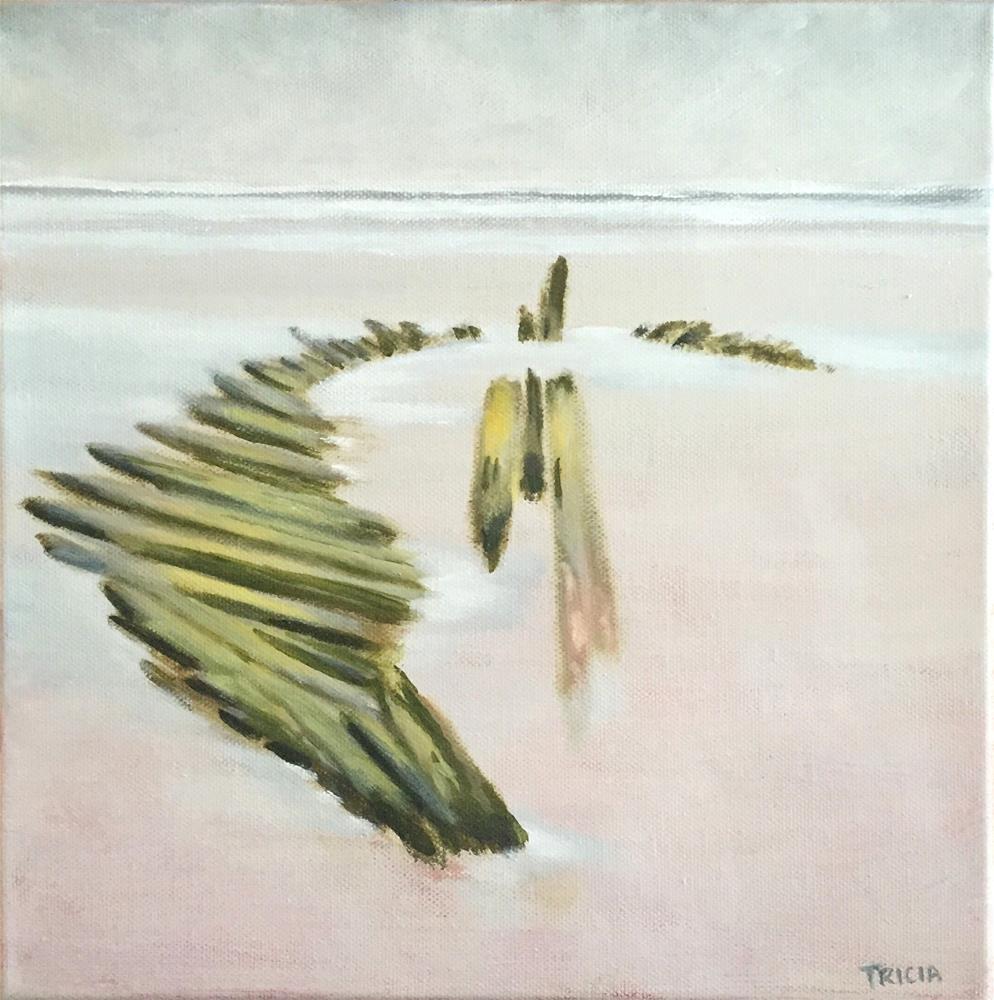 """""""Shipwreck at Higgins Beach"""" original fine art by Tricia Granzier"""