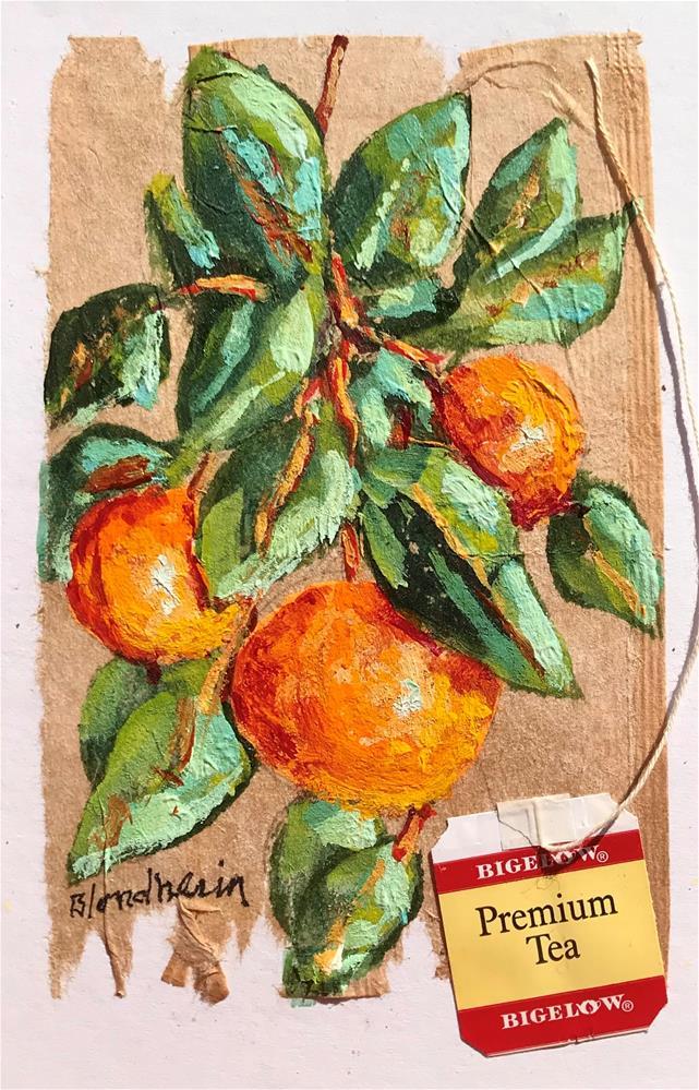 """""""Orange Tree"""" original fine art by Linda Blondheim"""