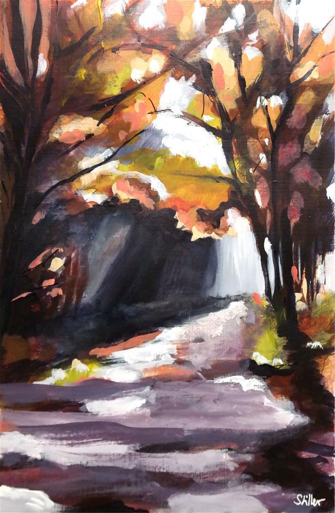 """3035 No Cyclist in the Woods"" original fine art by Dietmar Stiller"