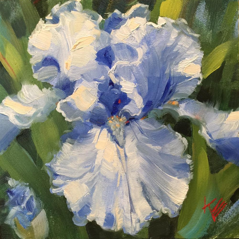 """Queen Elizabeth: Bearded Iris"" original fine art by Krista Eaton"