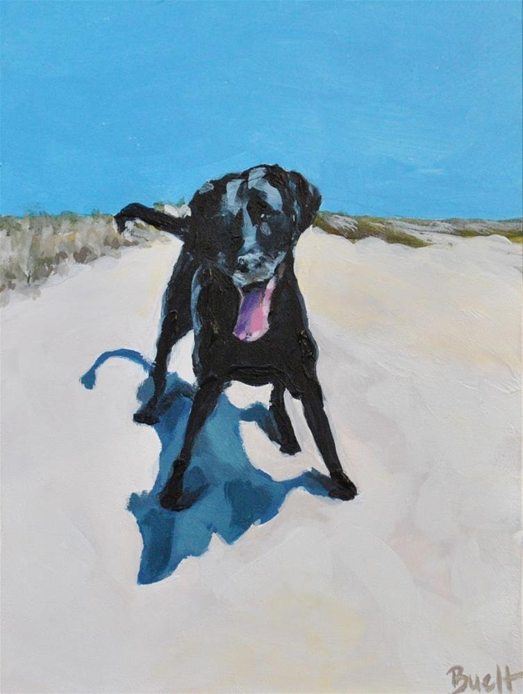 """Fido 2"" original fine art by Shari Buelt"