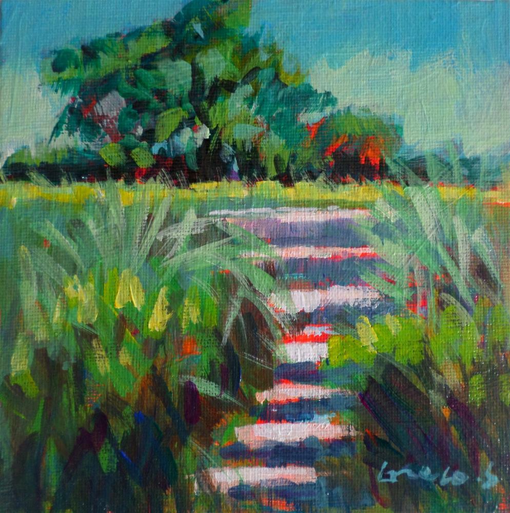 """""""Garden stairs in Ardennes"""" original fine art by salvatore greco"""