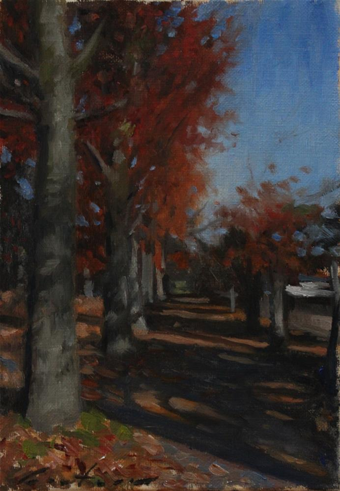"""Autumn Morning"" original fine art by Phil Couture"