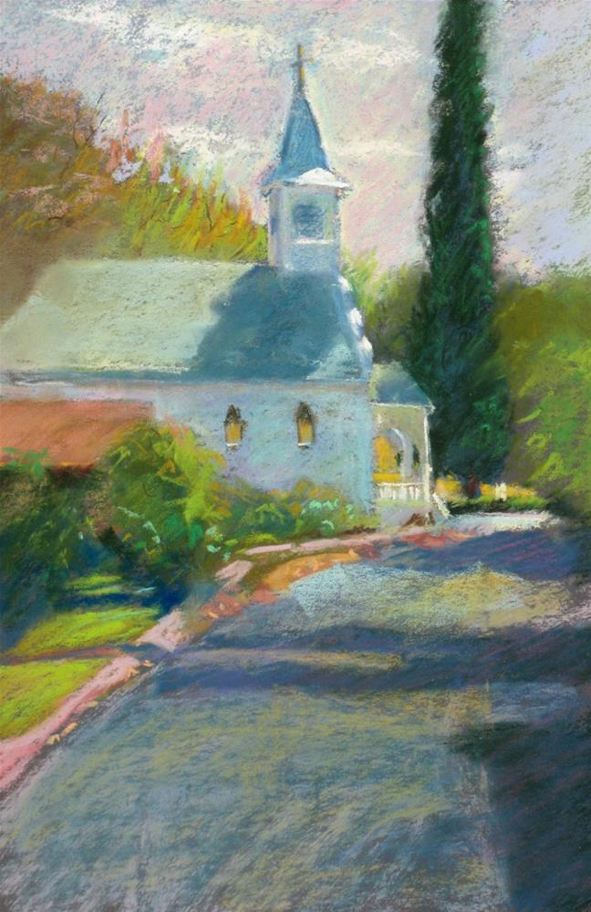 """Jamestown Church"" original fine art by Rhett Regina Owings"
