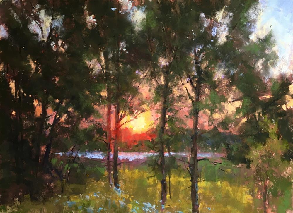 """Gilsland Farm Warming Up"" original fine art by Jacob Aguiar"