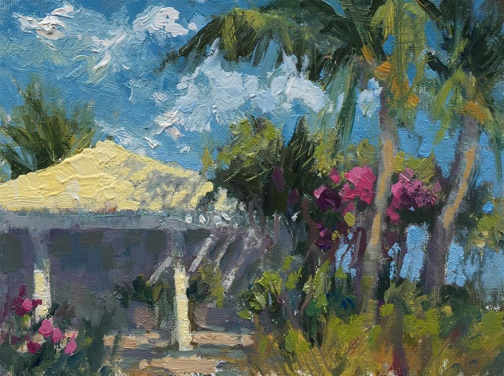 """Turks and Caicos Cabanna"" original fine art by Bruce Bingham"