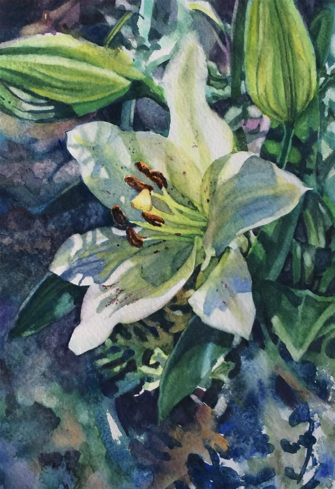 """a  Secrets of the Garden"" original fine art by Nicoletta Baumeister"
