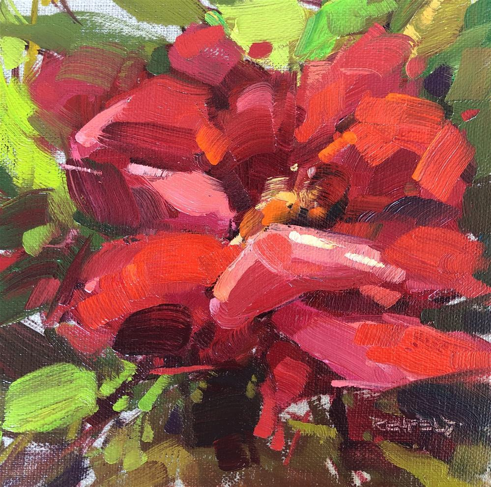 """Rosesplosion"" original fine art by Cathleen Rehfeld"