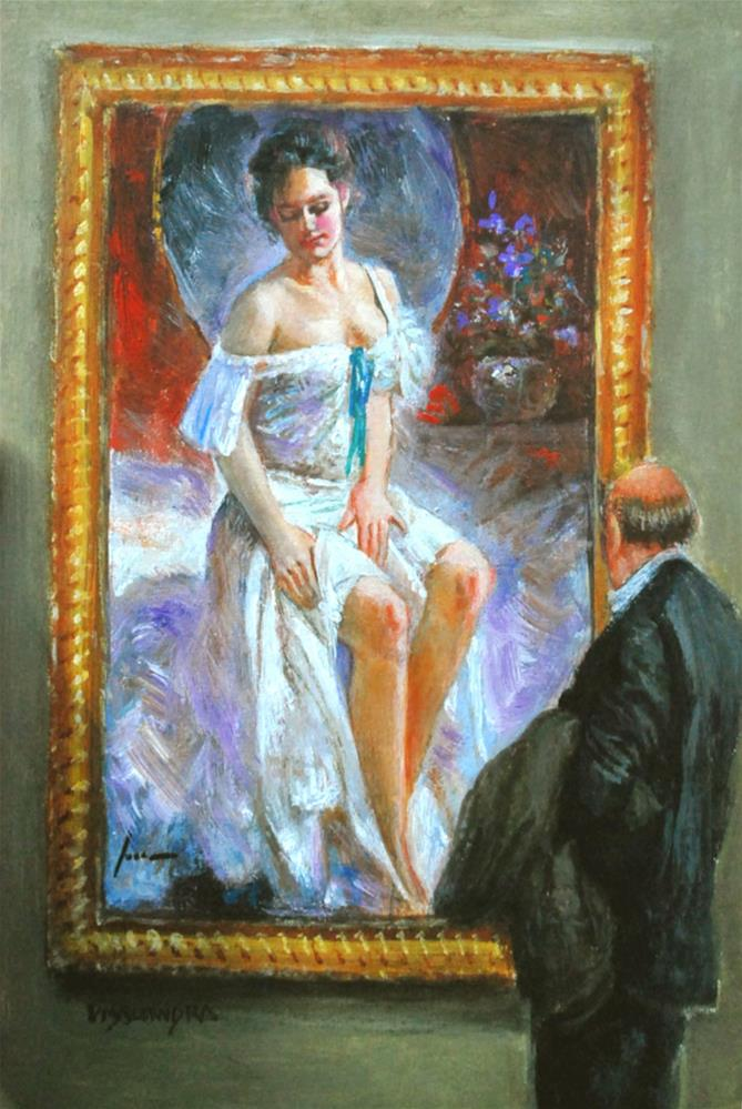 """museum visitors 8"" original fine art by vishalandra dakur"