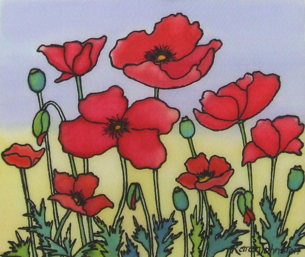 """Poppies"" original fine art by Karen Johnston"