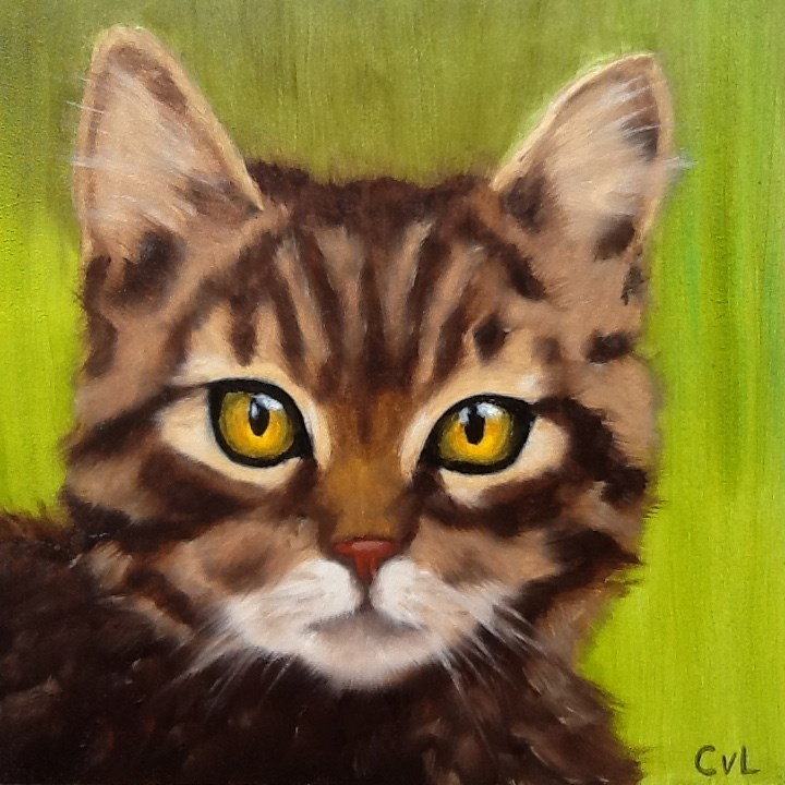 """Tommie"" original fine art by Conny van Leeuwen"