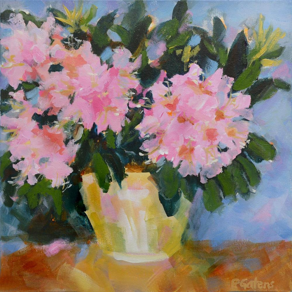 """""""Blushing Rhodies"""" original fine art by Pamela Gatens"""
