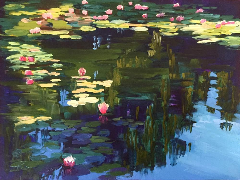 """Water Lilies"" original fine art by Andrea Jeris"