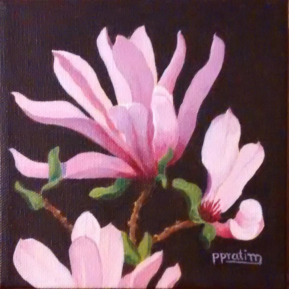 """Magnolias"" original fine art by Pratima Patel"