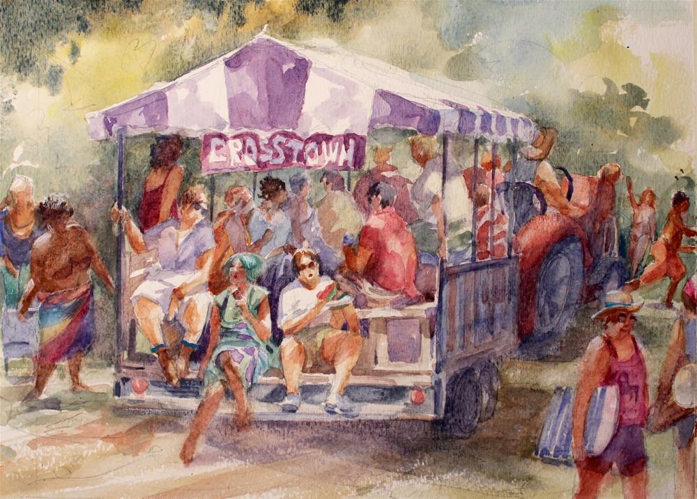 """""""Crosstown Shuttle"""" original fine art by Cedar Kindy"""