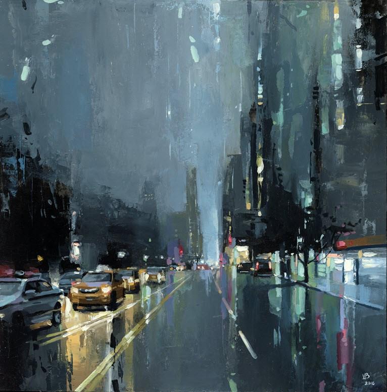 """Central Park West"" original fine art by Victor Bauer"
