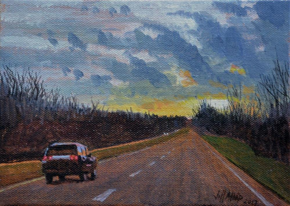 """Lonely Road 2"" original fine art by Jeff Atnip"