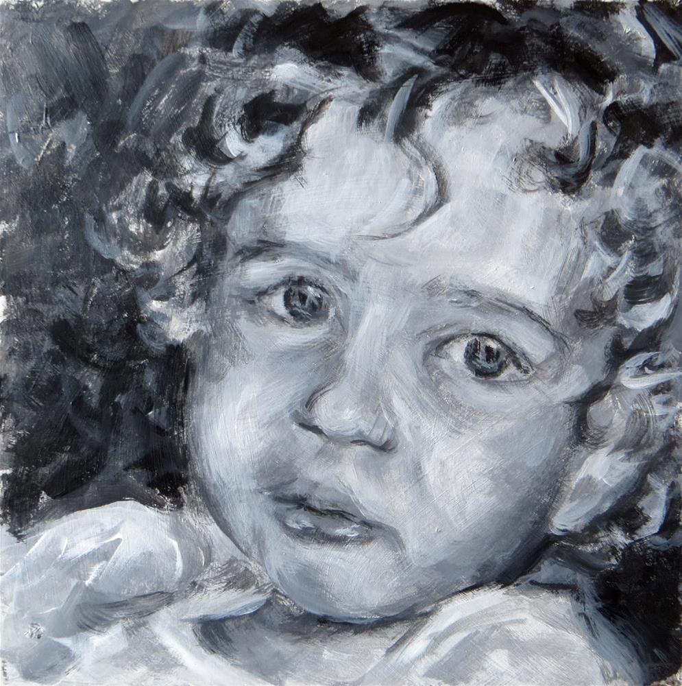 """Alastair - value study"" original fine art by Tammie Dickerson"