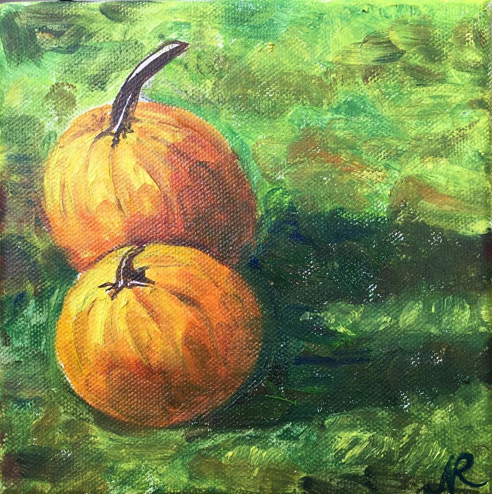 """Pumpkins"" original fine art by Natasha Ramras"
