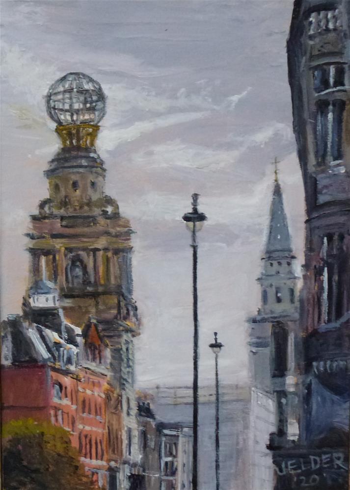 """London No. 22"" original fine art by Judith Elder"