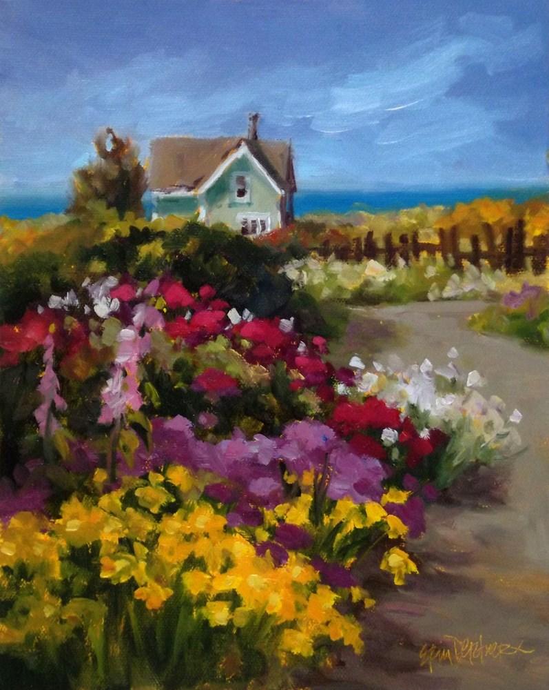 """April Showers Brought May Flowers"" original fine art by Erin Dertner"