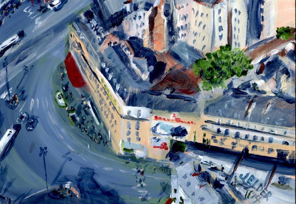 """Paris No. 37, Montparnasse Intersection"" original fine art by Judith Elder"